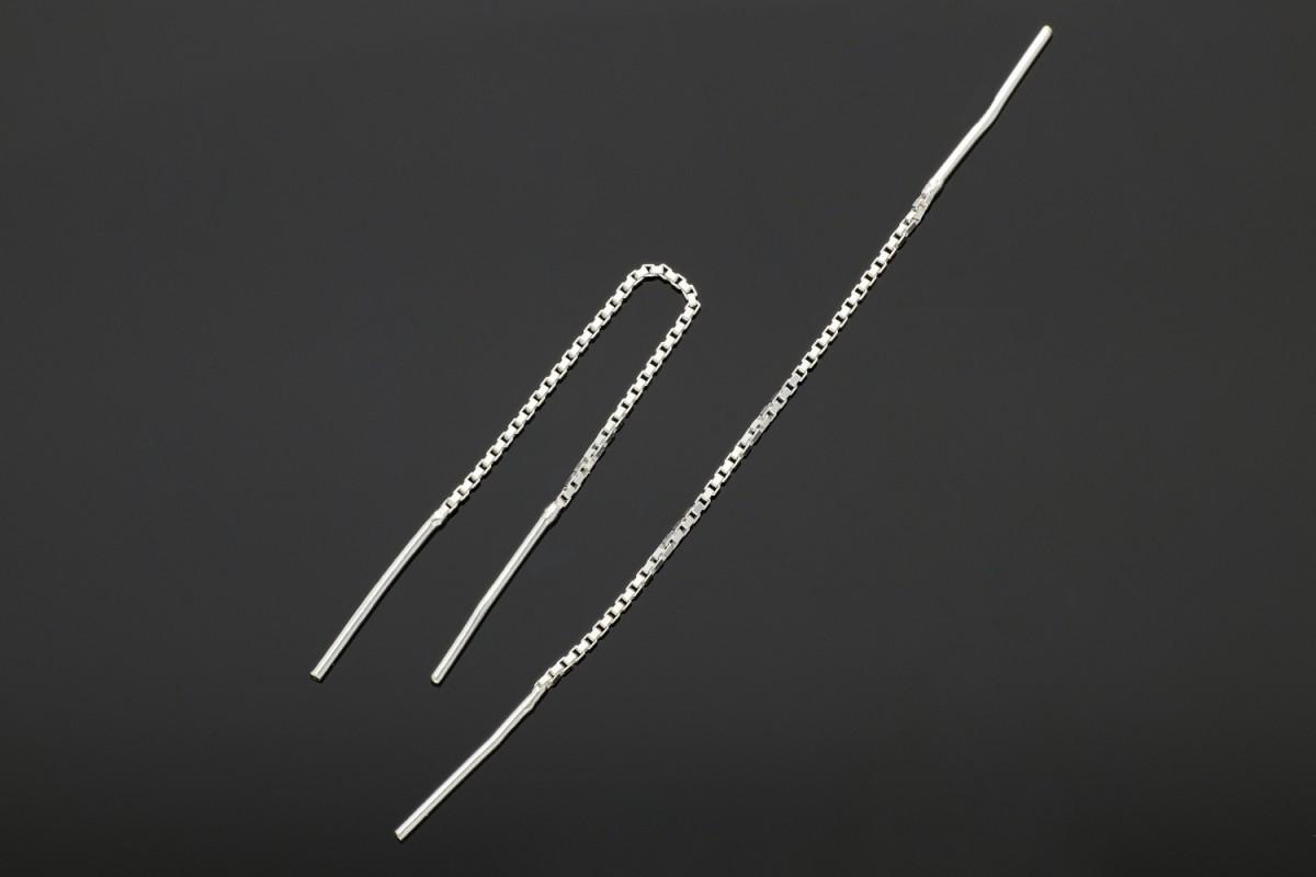 Bijuterii argint cercei cu lant
