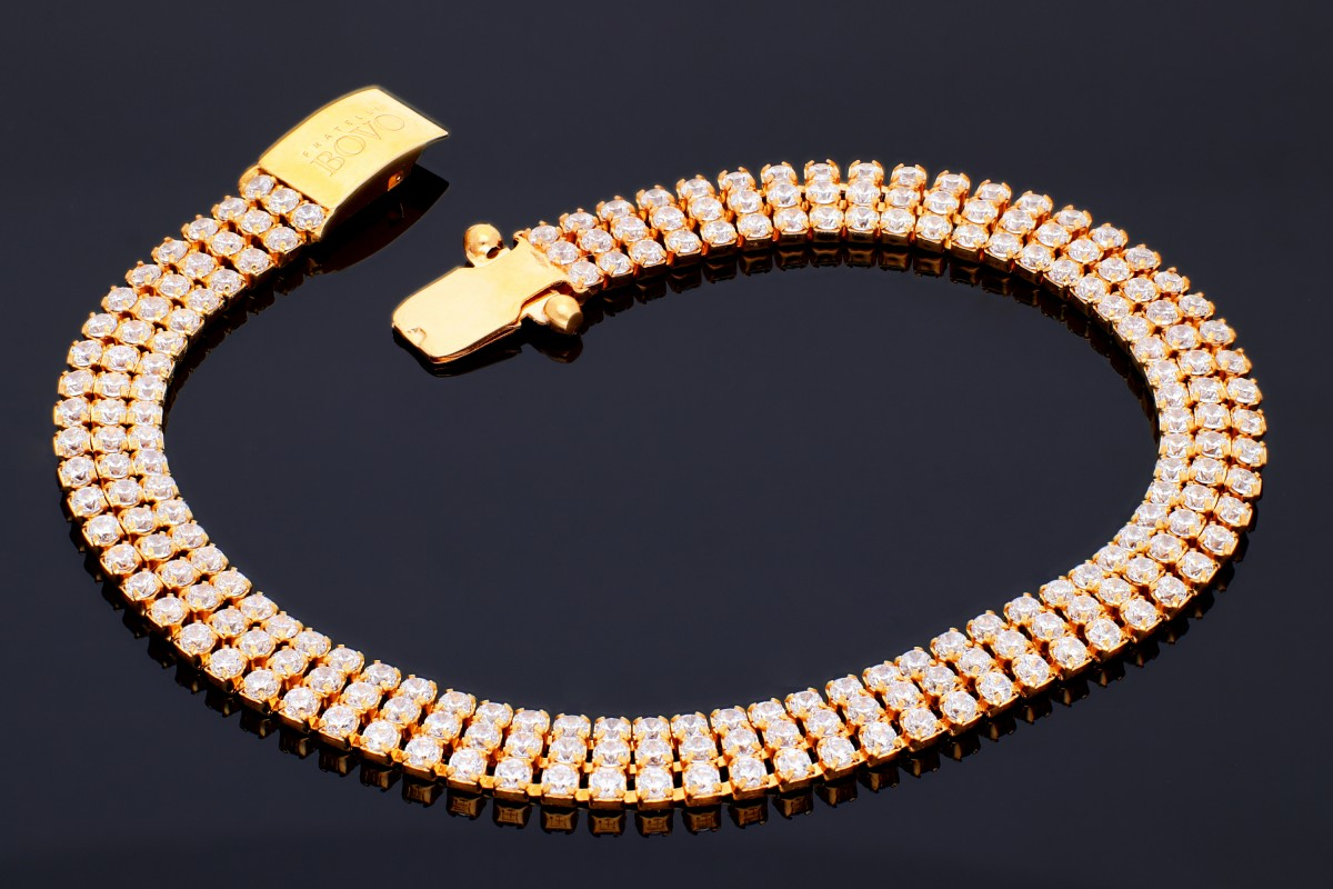 Bratara mobila aur 14K galben tip tenis