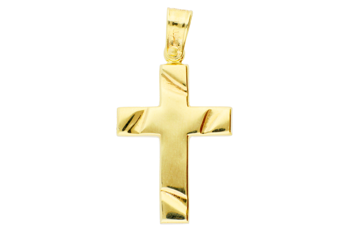 Bijuterii aur online - Cruciulita aur 14K galben