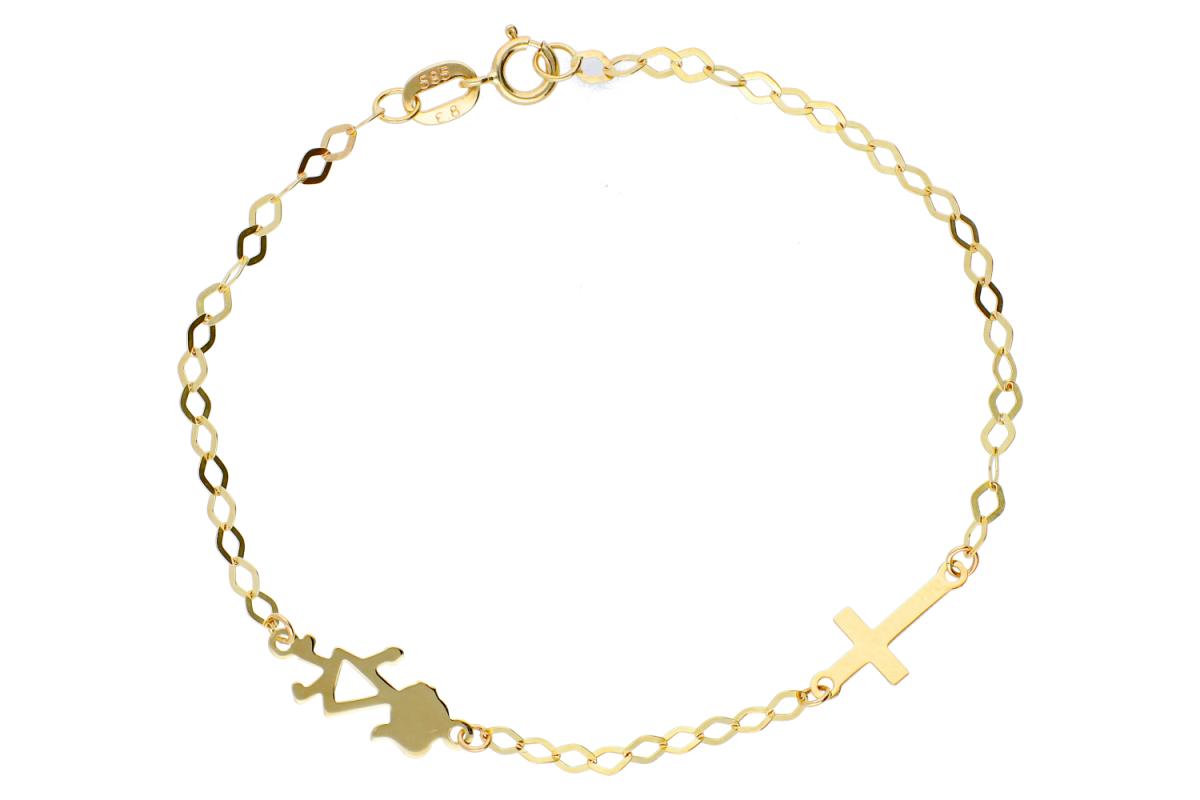 Bijuterii aur bratara copii pandantive fetita si cruciulita