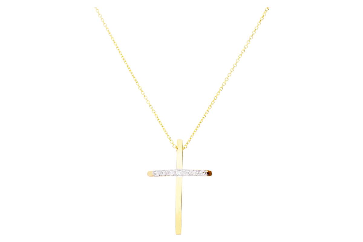 Bijuterii aur cadou lant cu pandantiv cruciulita