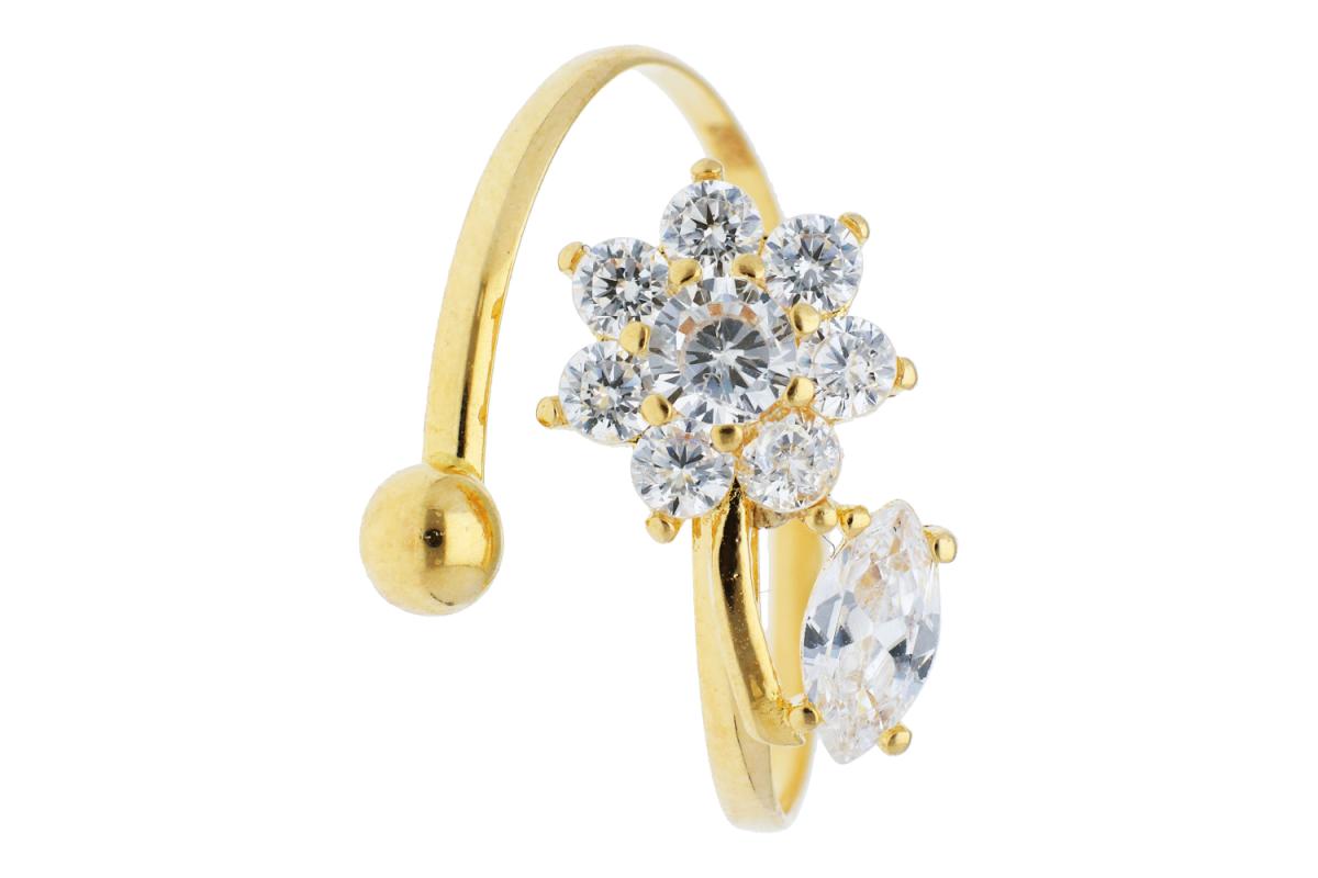 Bijuterii aur - Inel copii aur 14K galben usor reglabil
