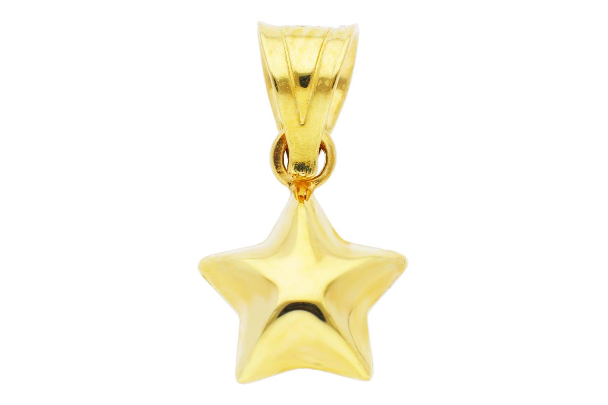 Bijuterii aur - Medalioane din aur 14K galben steluta