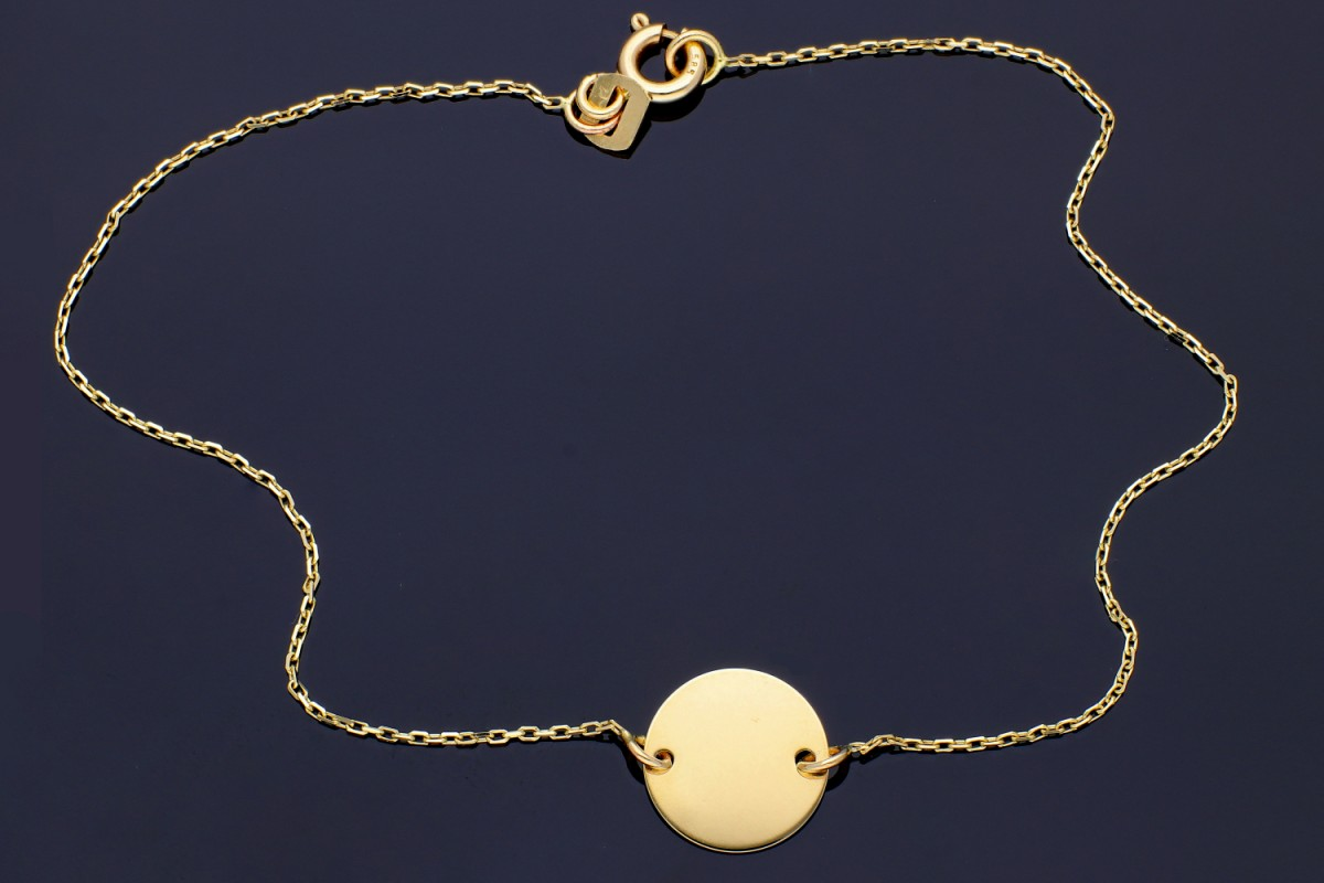Bijuterii aur online - Bratara mobila din aur 14K galben banut gravabil