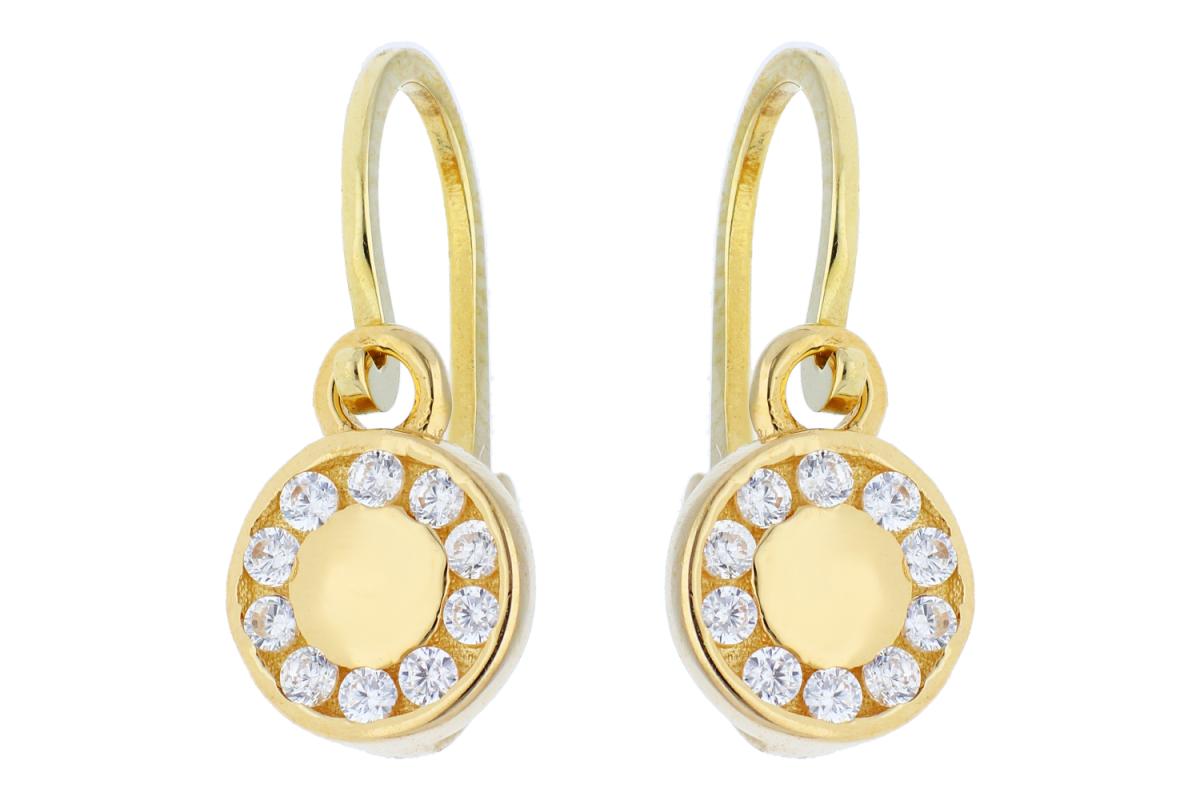 Bijuterii aur online - Cercei copii aur 14K galben