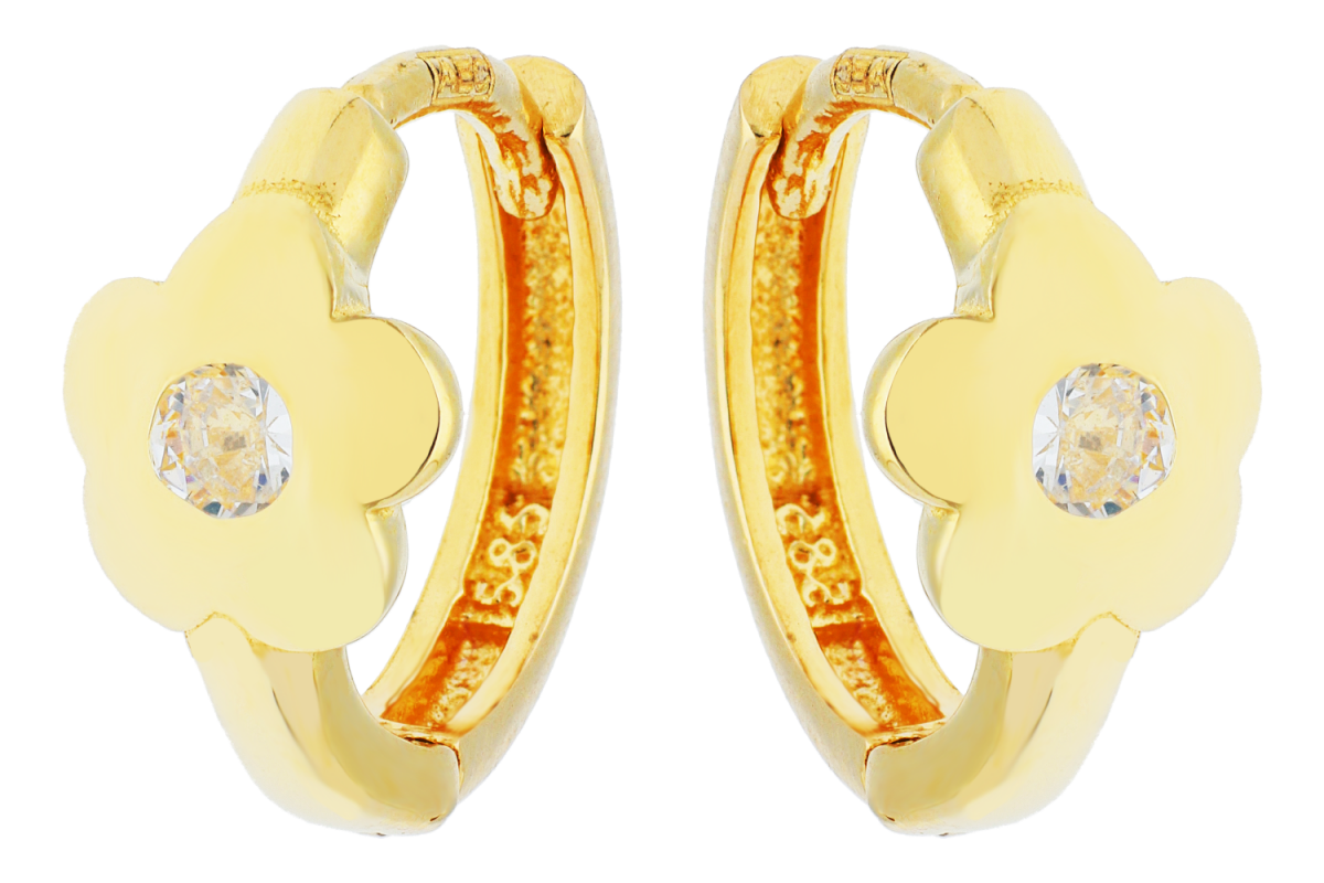 Bijuterii aur online - Cercei copii din aur 14K galben floricica