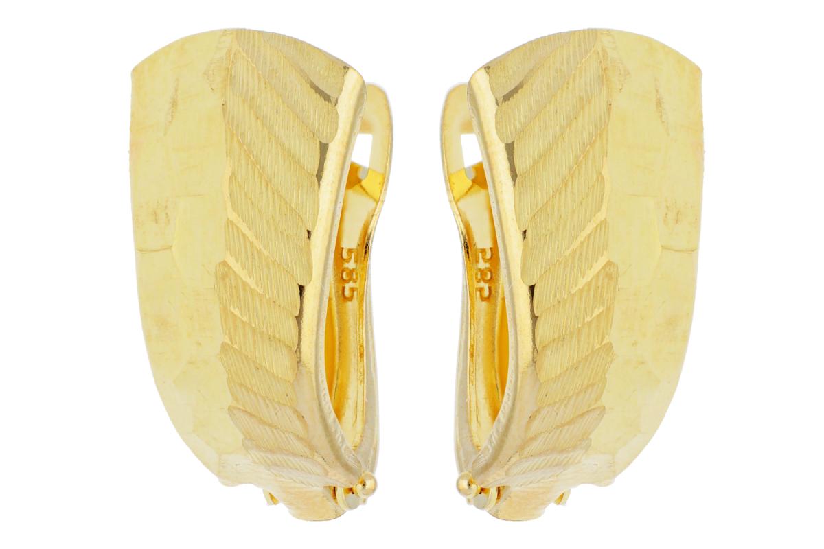 Bijuterii aur online - Cercei tortite dama din aur 14K galben