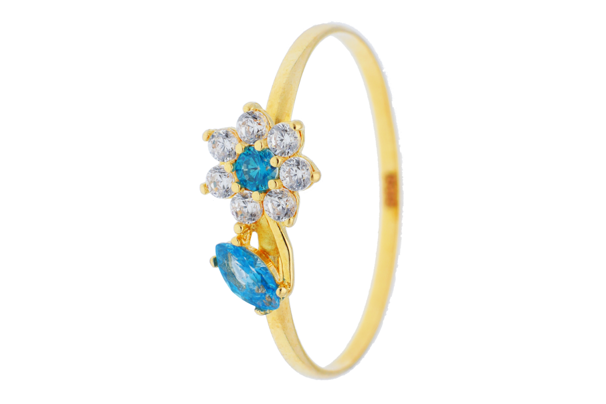 Bijuterii aur online - Inele copii floricica aur 14K galben
