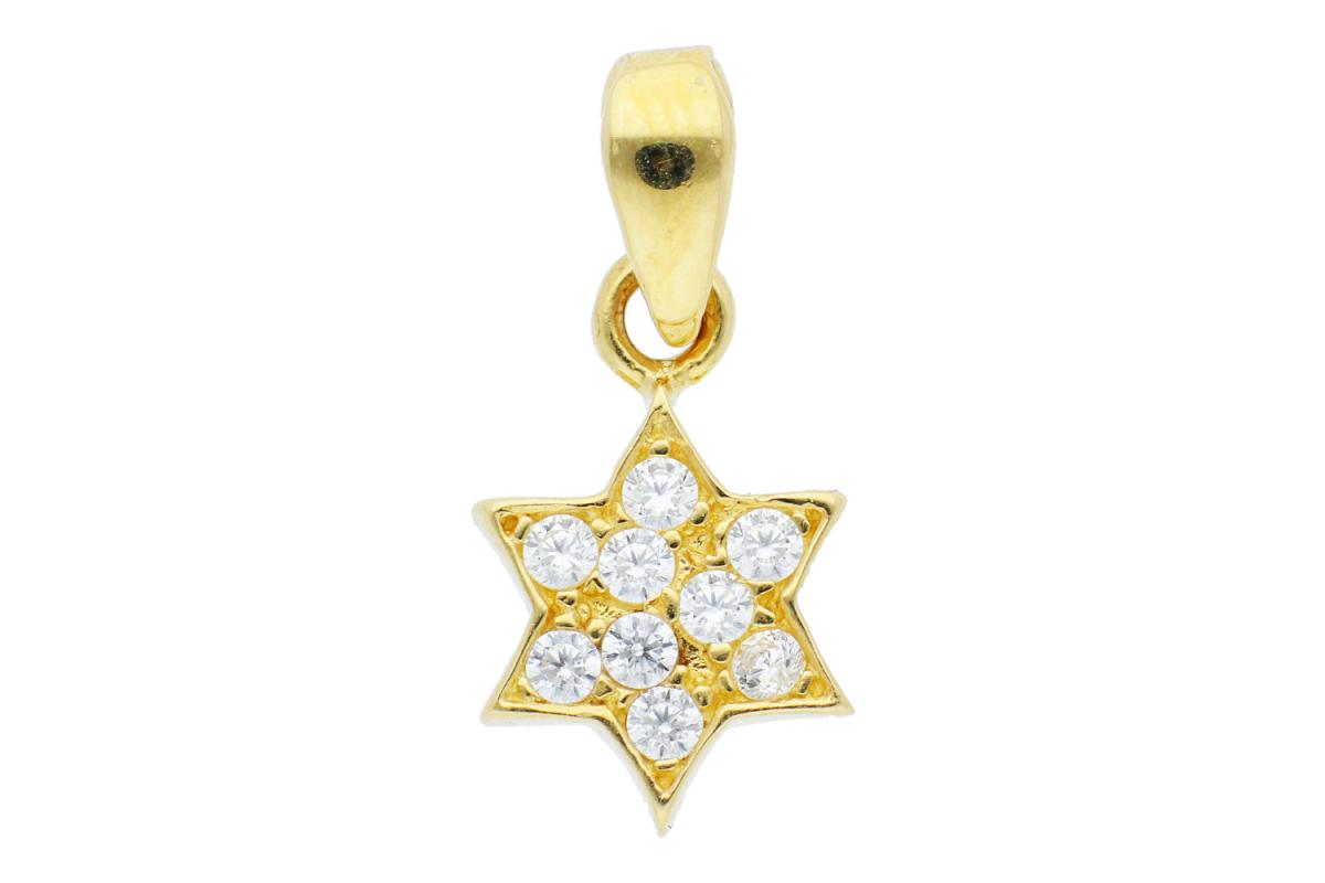 Bijuterii aur online - Medalion din aur 14K galben steluta