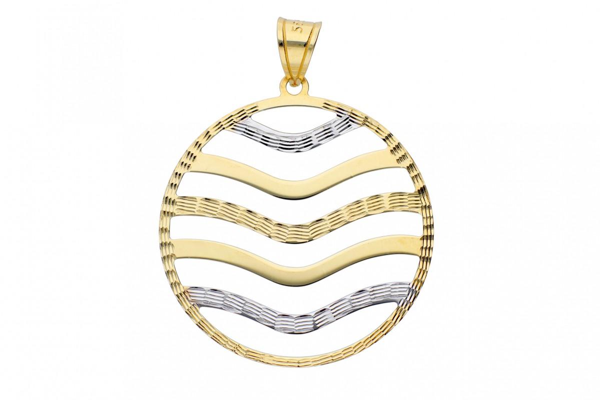 Bijuterii aur online - Medalioane dama din aur 14K alb si galben