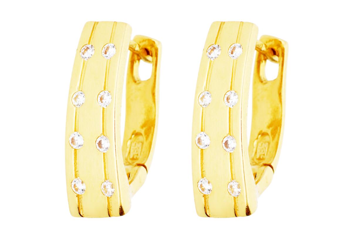 Bijuterii aur - Cercei tortite dama din aur 14K galben