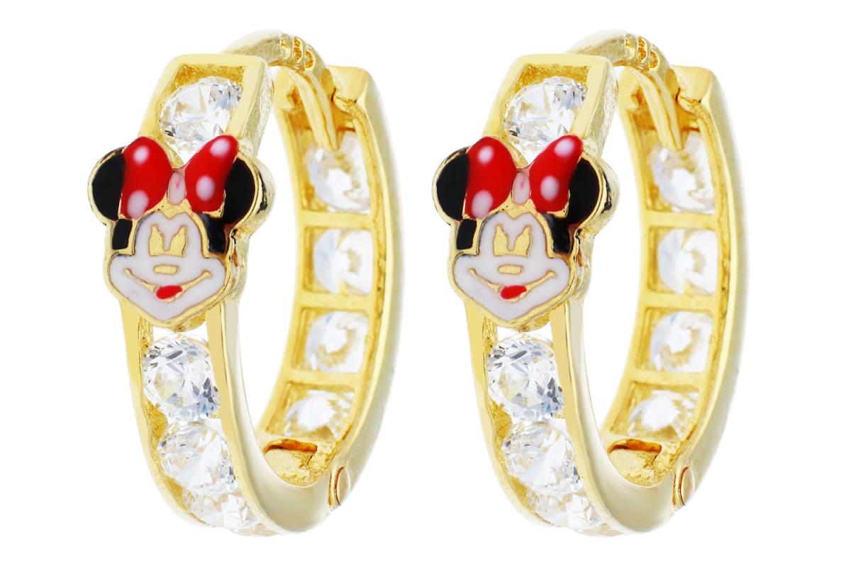 Bijuterii din aur - Cercei copii Minnie aur 14K galben
