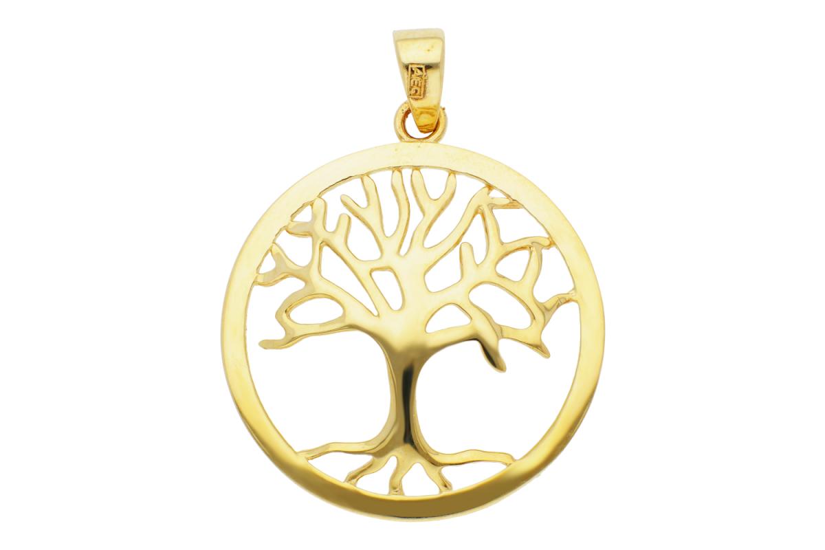 Bijuterii din aur - Pandantive aur 14K galben pomul vietii