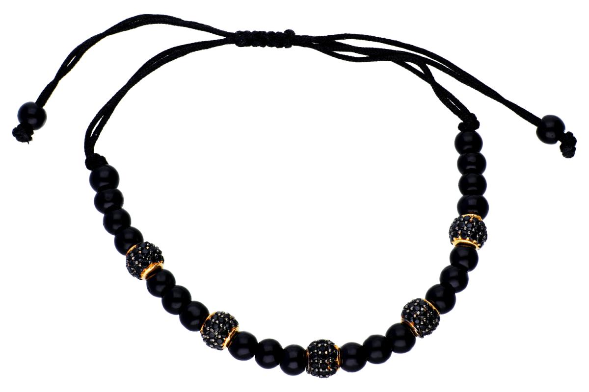 Bijuterii din aur - Bratara cu snur din aur 14K galben bilute