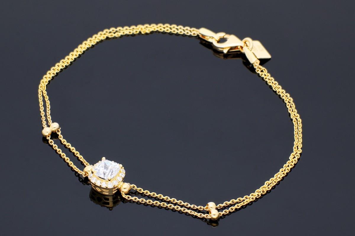 Bratara mobila bijuterii aur 14k  zirconii anturaj