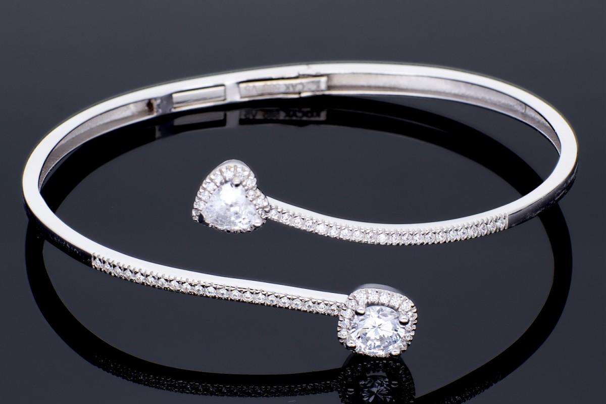 Bratari fixe aur alb 14K bijuterii dama