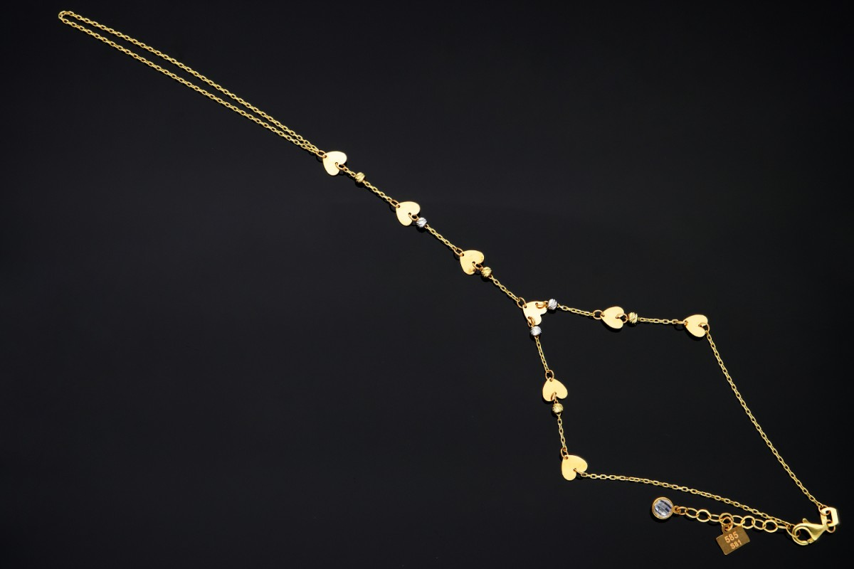Bratari mobile dama Cleopatra inimioare aur 14K