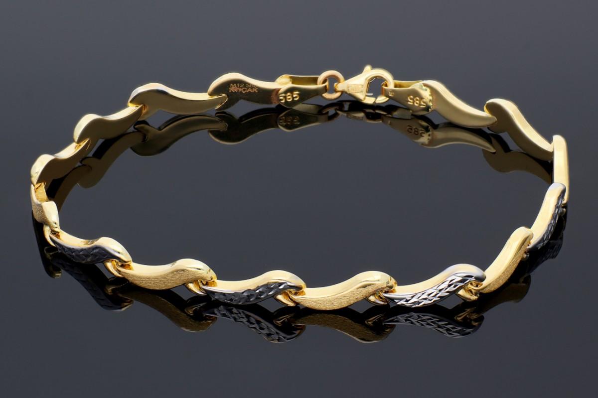Bratari mobile dama din aur 14 k