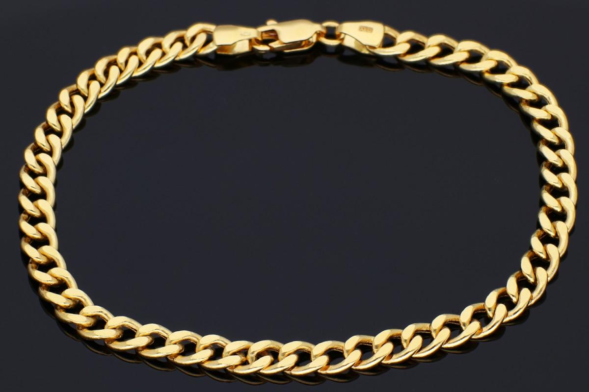 Bratari mobile unisex din aur 14K galben