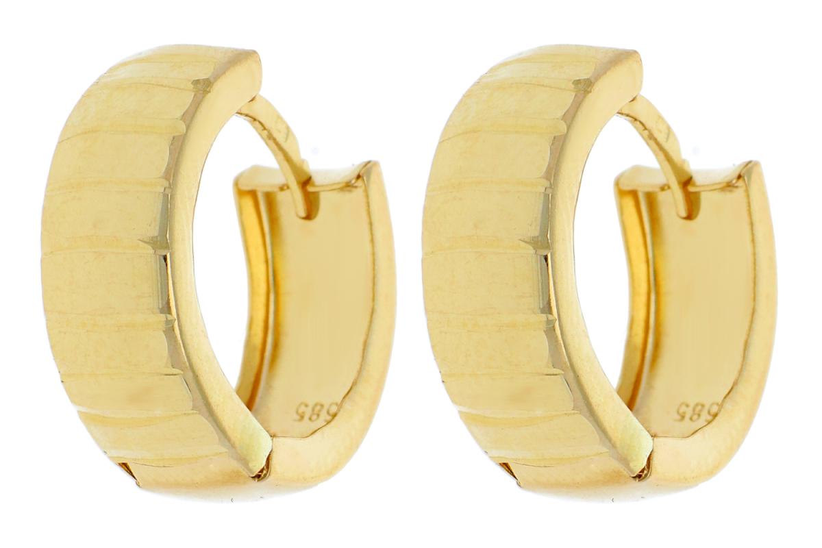 Bijuterii aur - Cercei rotunzi dama din aur 14K galben