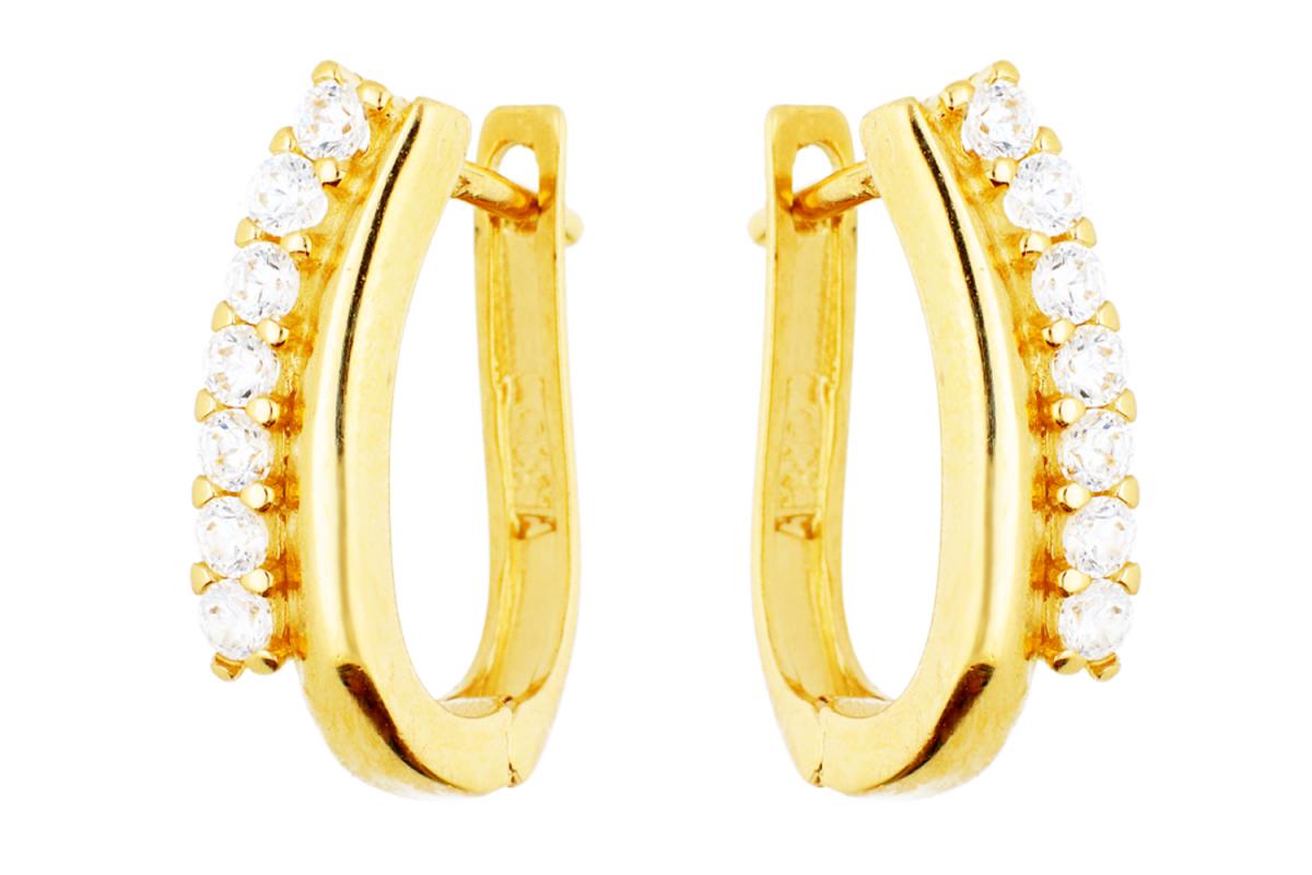 Bijuterii aur - Cercei tortite din aur 14K galben