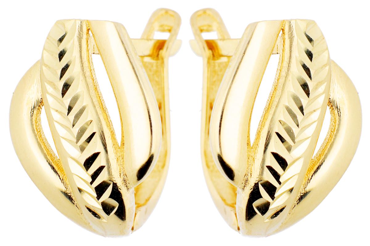 Bijuterii aur online - Cercei tortite dama aur 14K galben