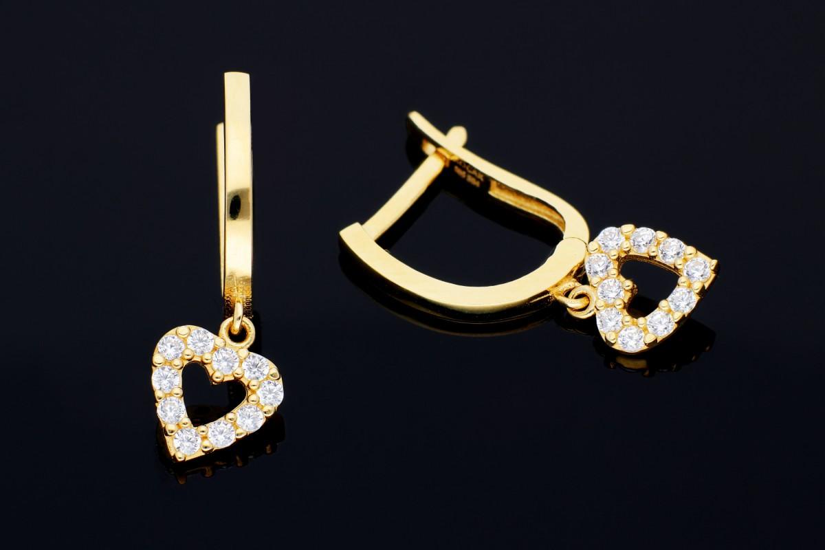 Cercei aur pandant inimioara bijuterii online