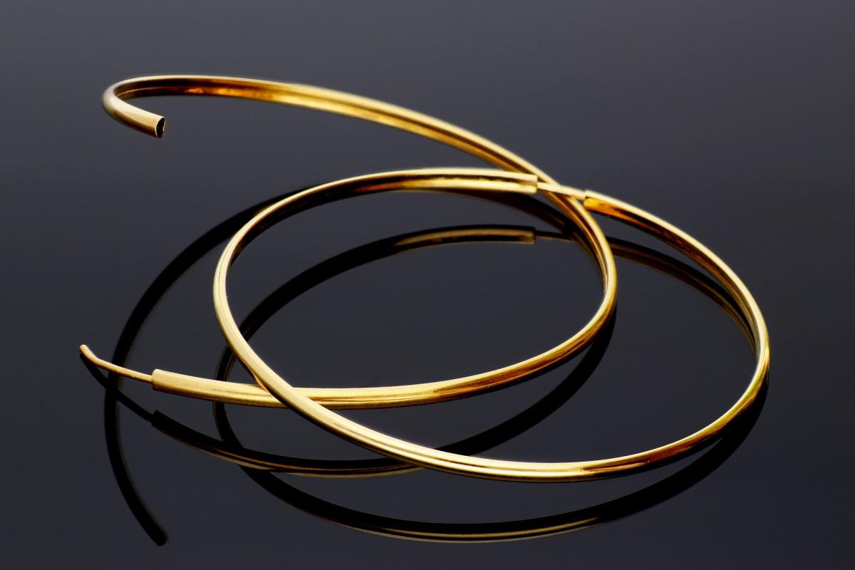 Cercei creole aur 14k bijuterii dama