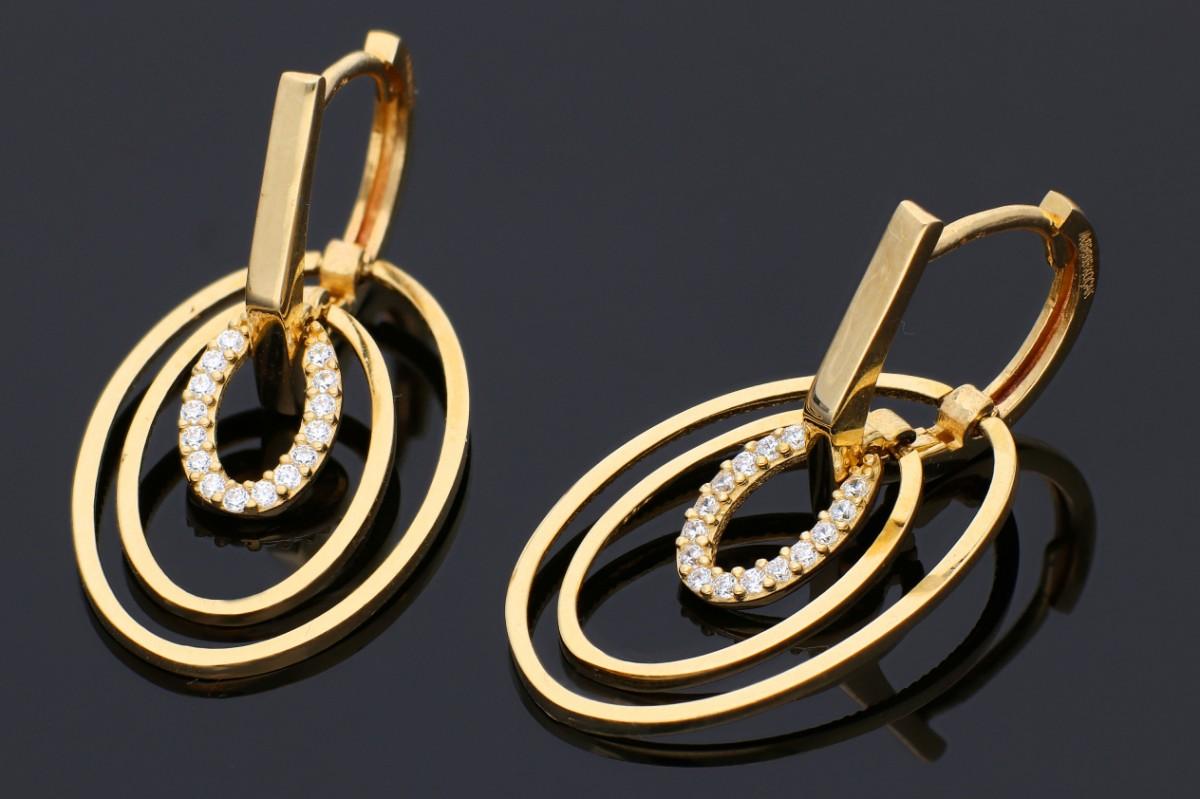Cercei lungi din aur 14K galben