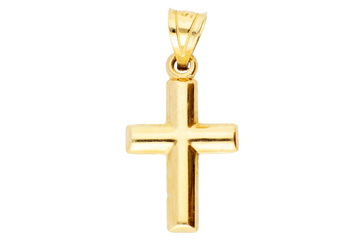 Cruce aur galben 14K
