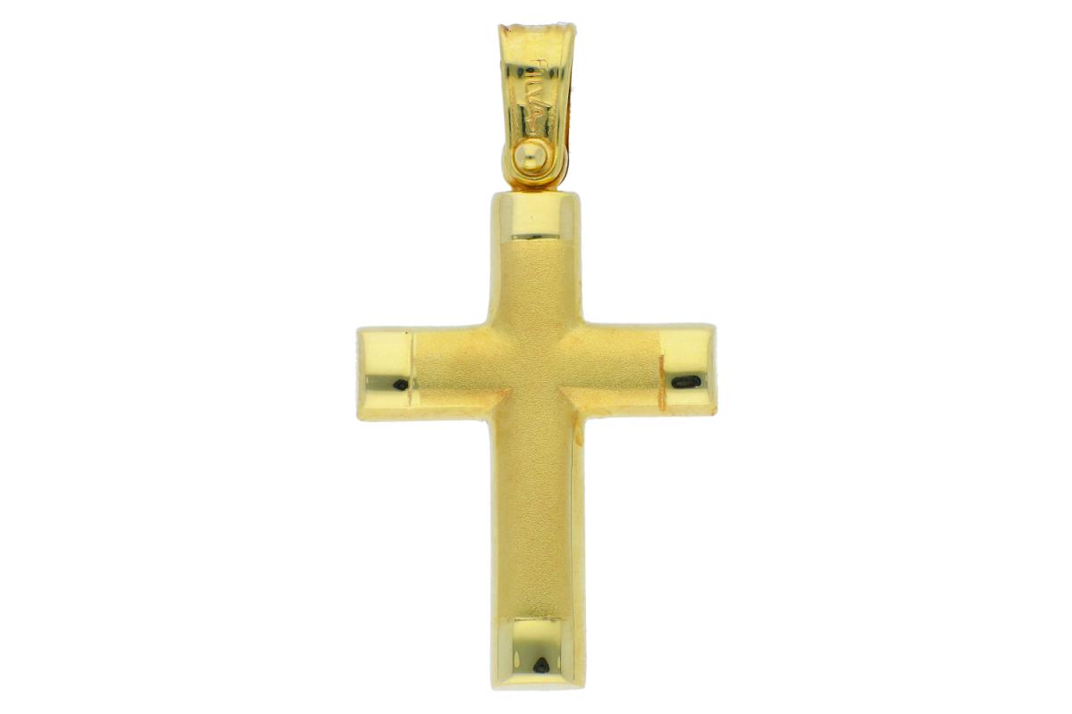 Cruciulita aur 14K galben
