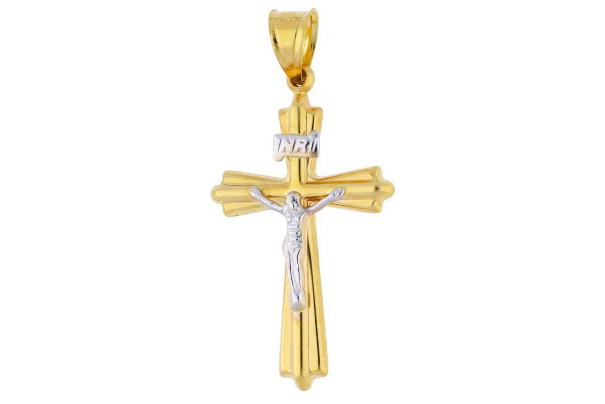 Cruciulita din aur 14K Iisus