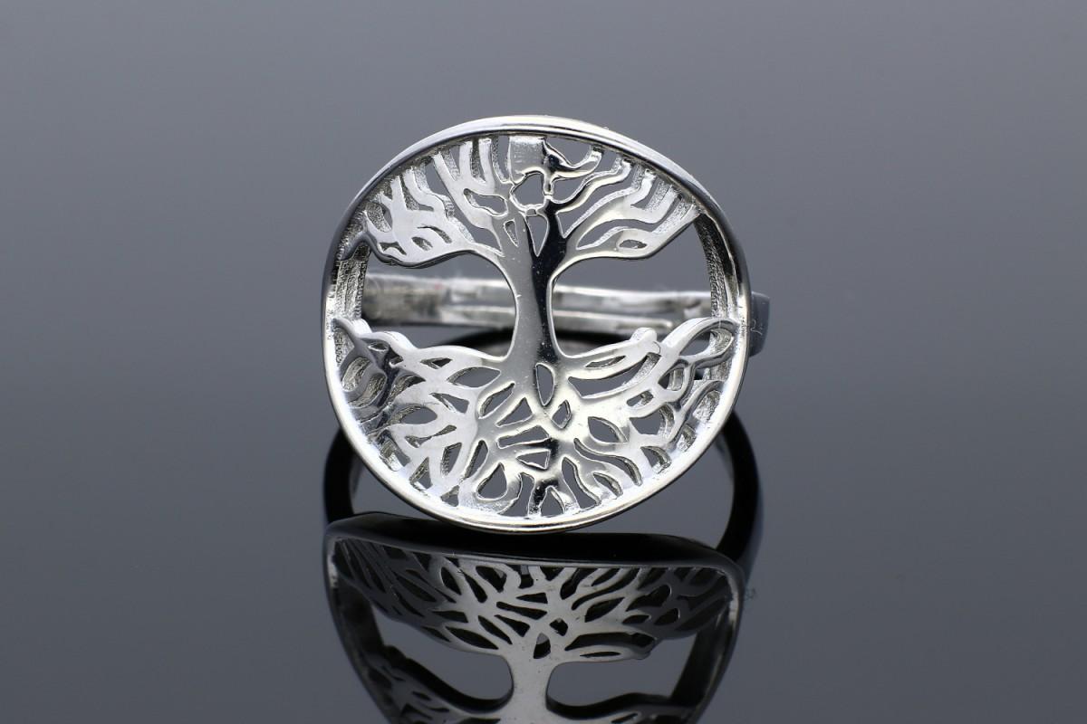 Inel argint 925 Pomul Vietii usor reglabil