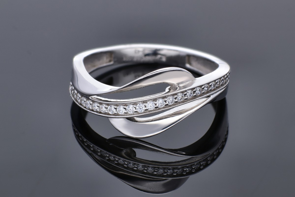 Inel aur 14K alb bijuterii cadou