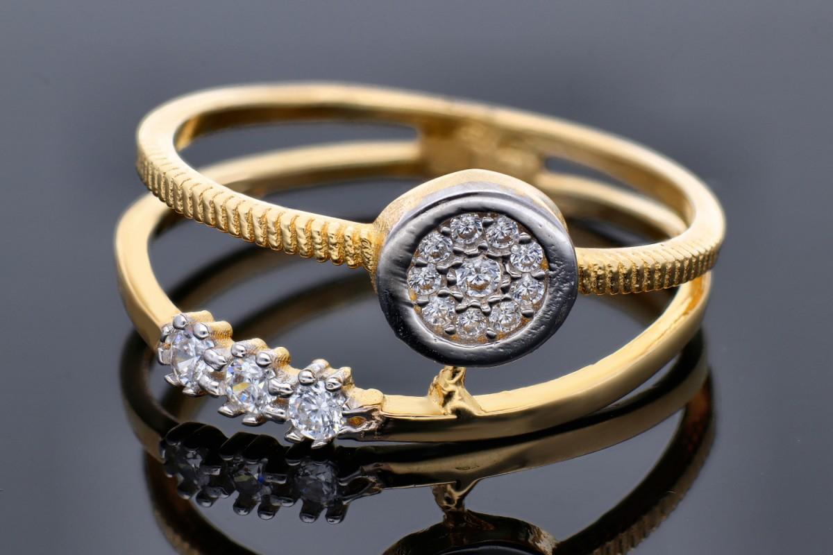 Bijuterii aur online - Inele aur 14K alb si galben
