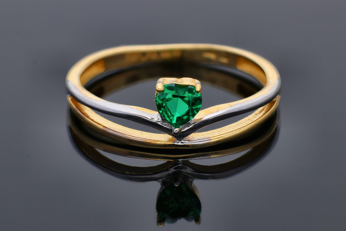 Inel din aur 14K galben cadouri bijuterii