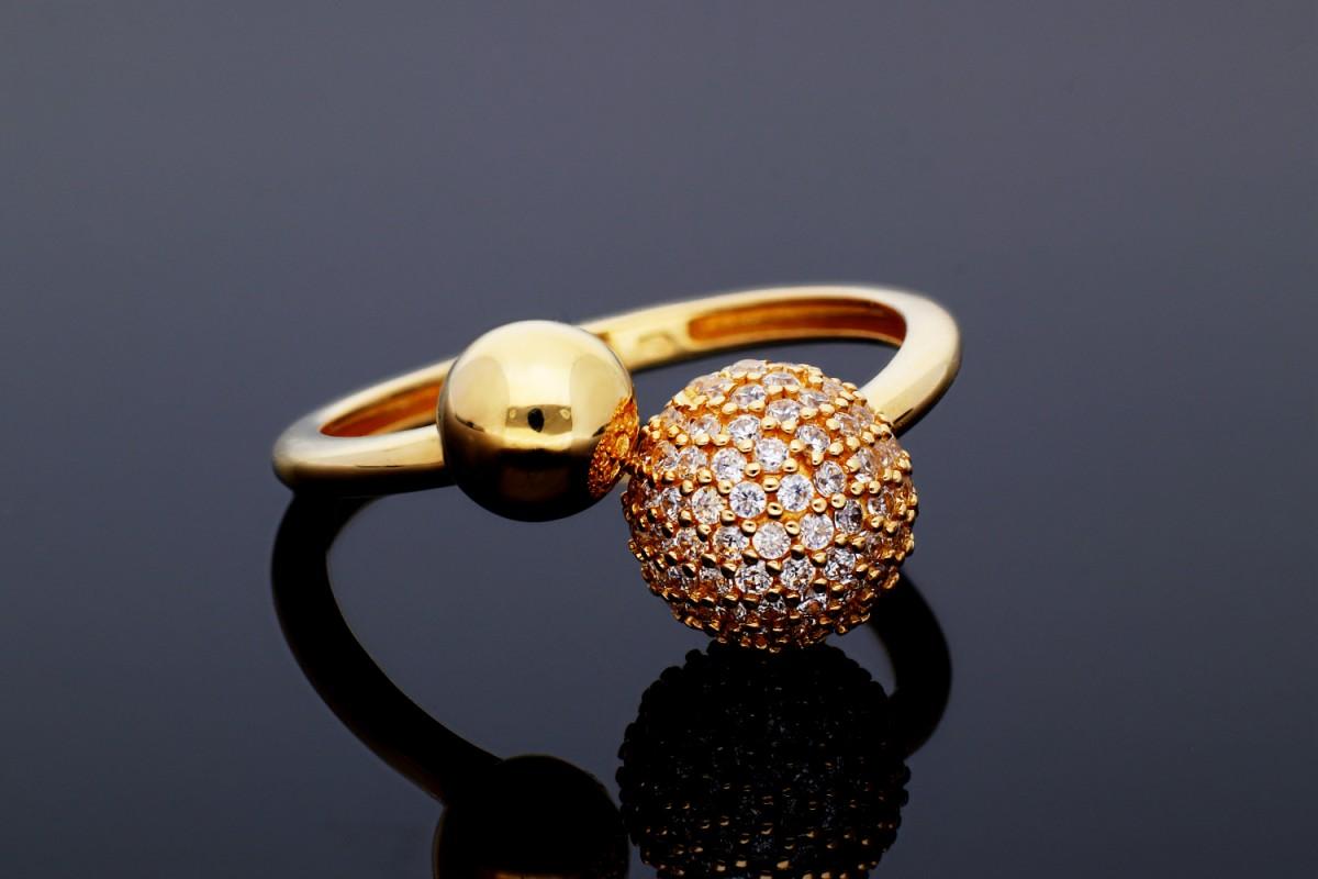 Inele din aur 14K galben dama zirconia