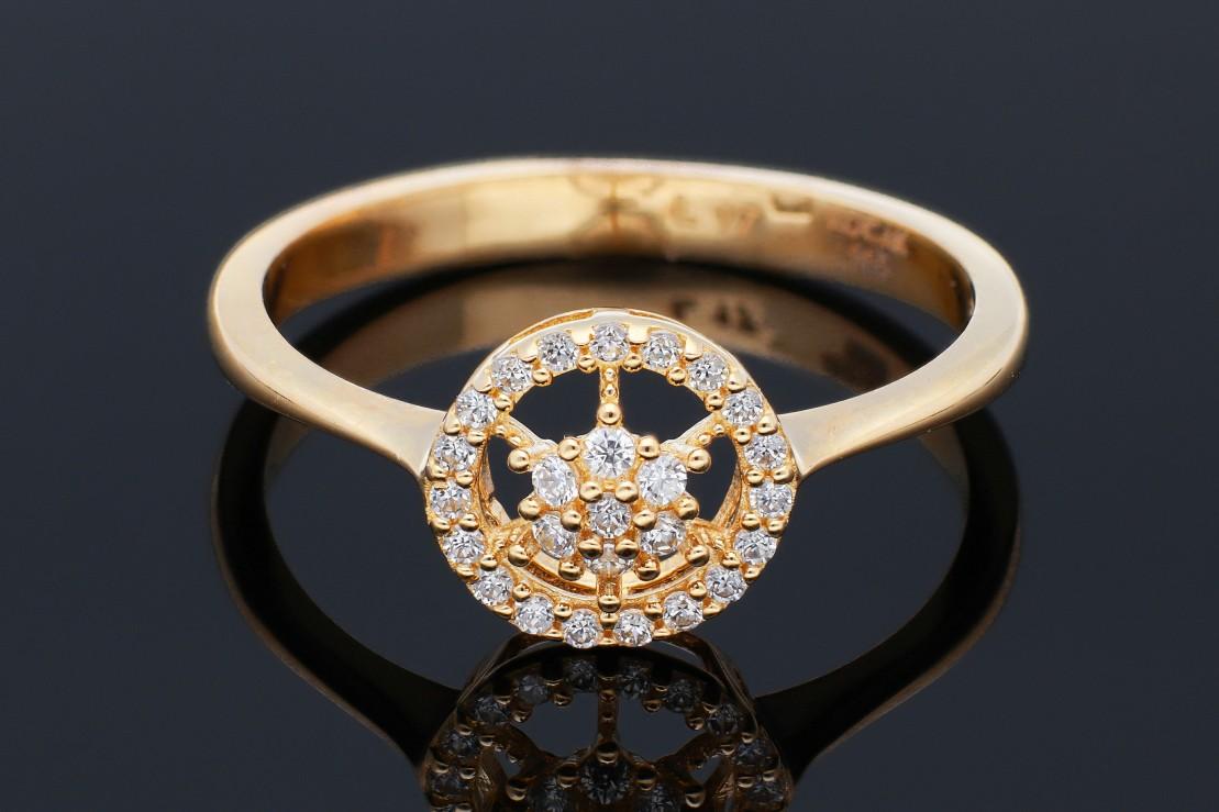 Inel dama din aur 14K galben
