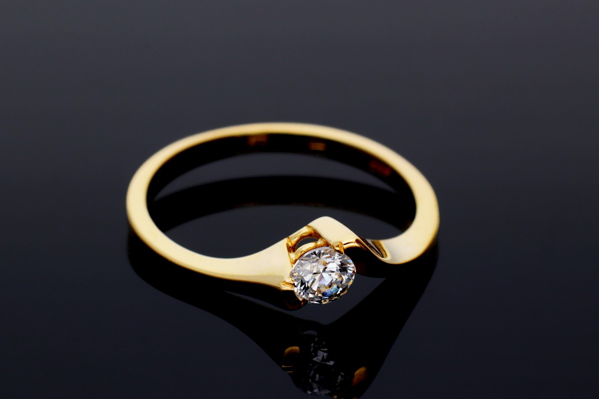 Inele de logodna dama din aur 14K galben