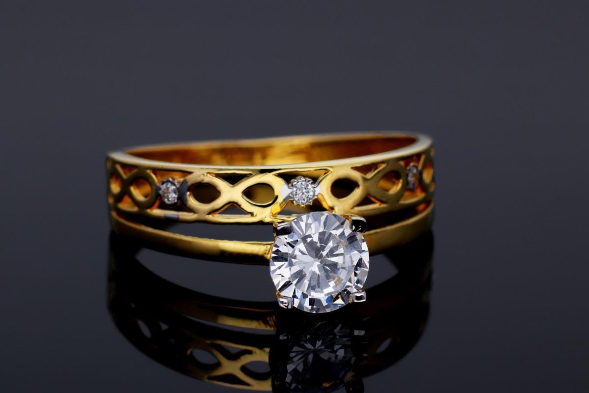 Bijuterii aur - Inel de logodna dama din aur 14K galben