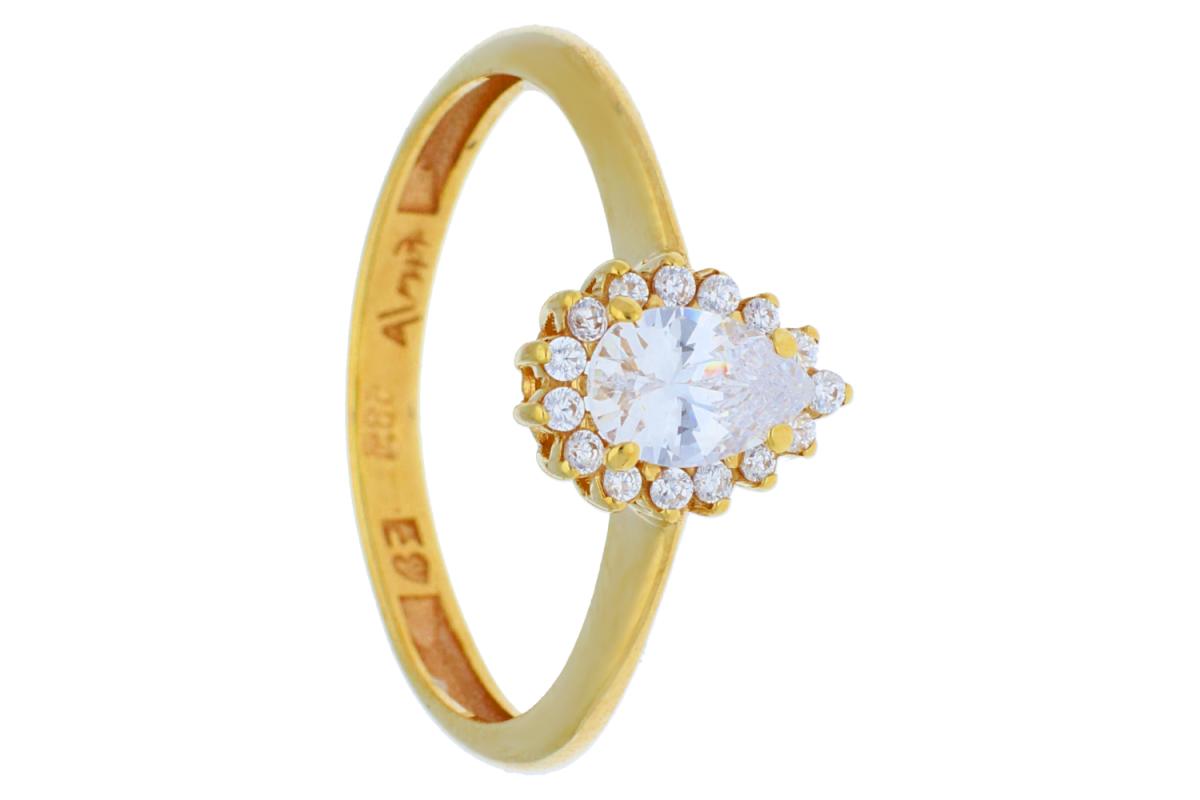 Inel de logodna din aur 14K galben