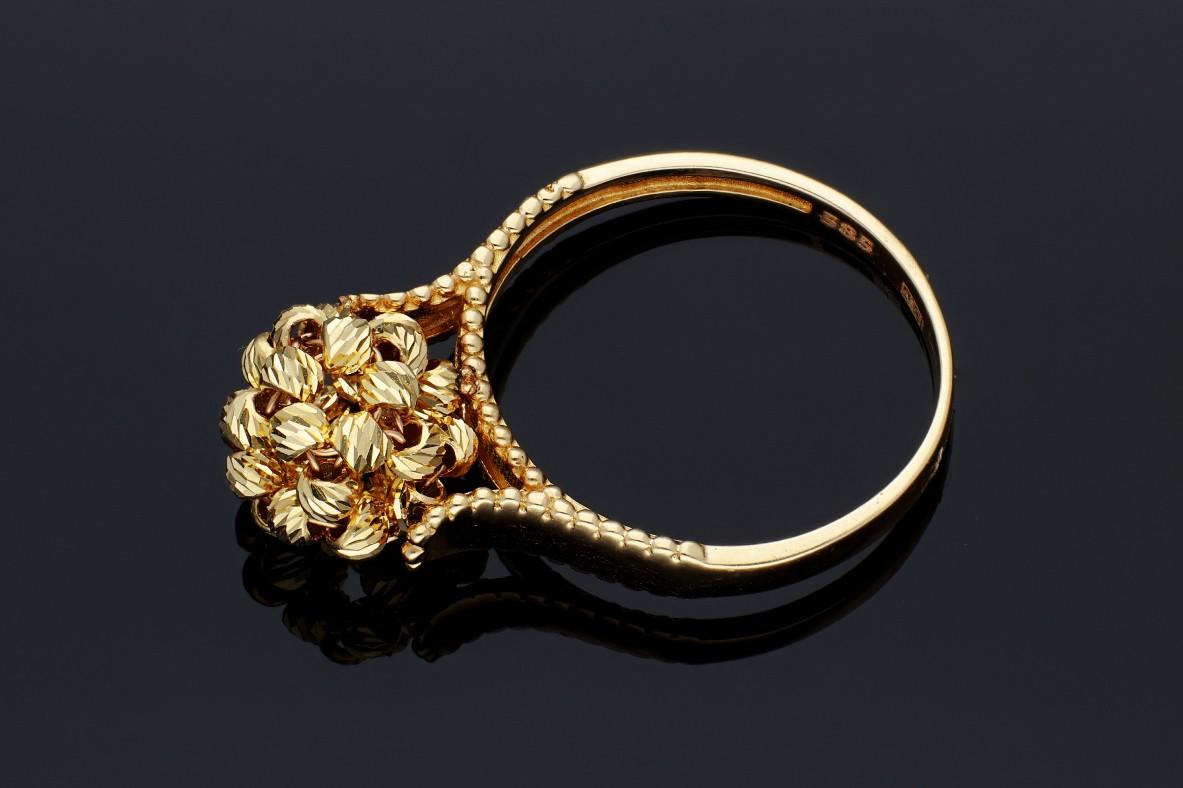 Bijuterii din aur - Inele dama aur 14K galben bilute
