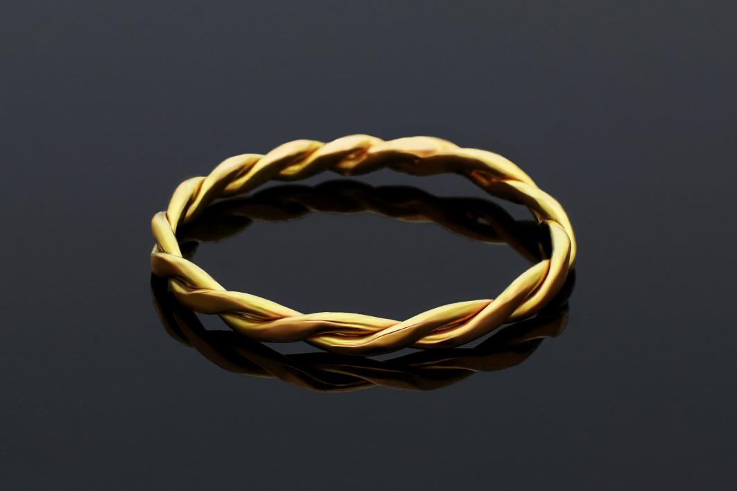 Inele aur 14K galben model infinity