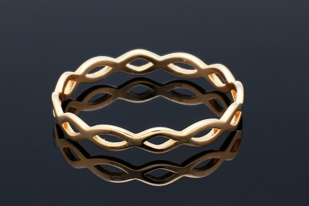 Inele dama din aur 14K galben Infinity