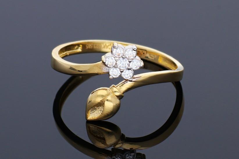 Inel din aur 14K bijuterii cadou floricica