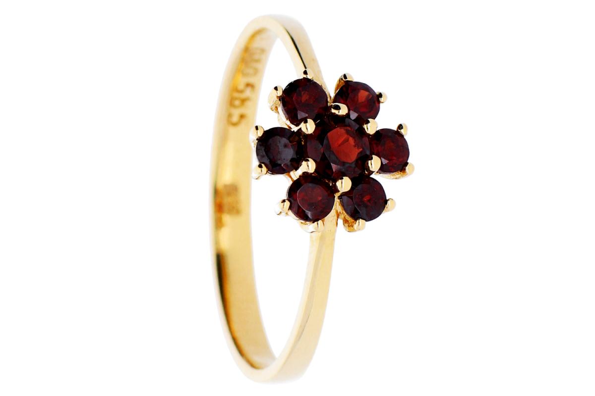 Inele din aur 14K bijuterii dama online zirconii rubin