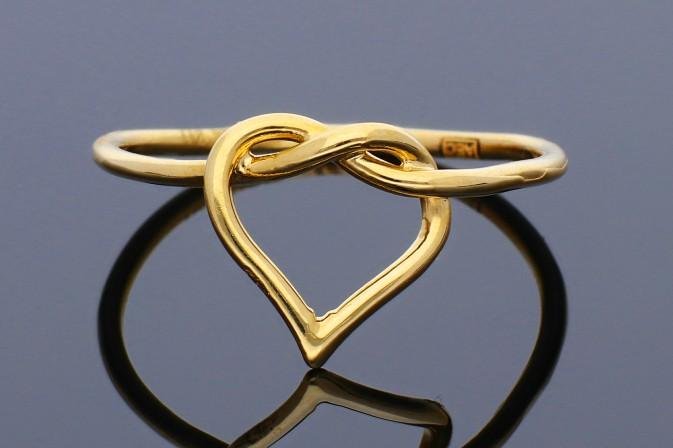 Inele din aur 14K galben inimioara