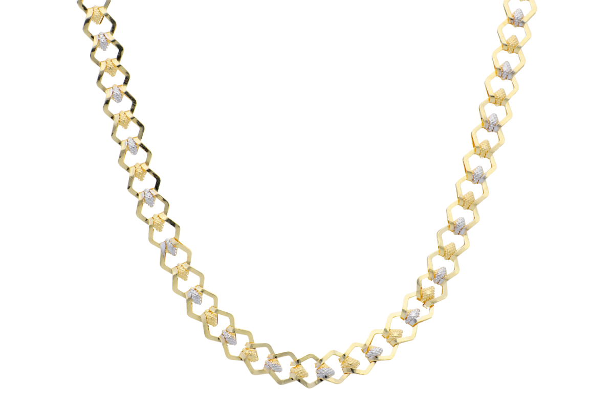 Lantisoare dama aur 14K alb si galben