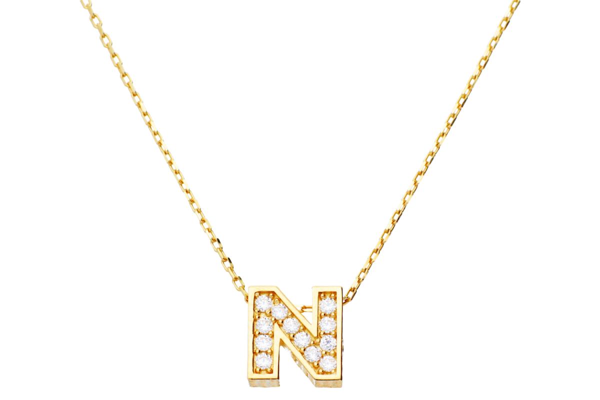 Lant cu pandant aur 14k litera N