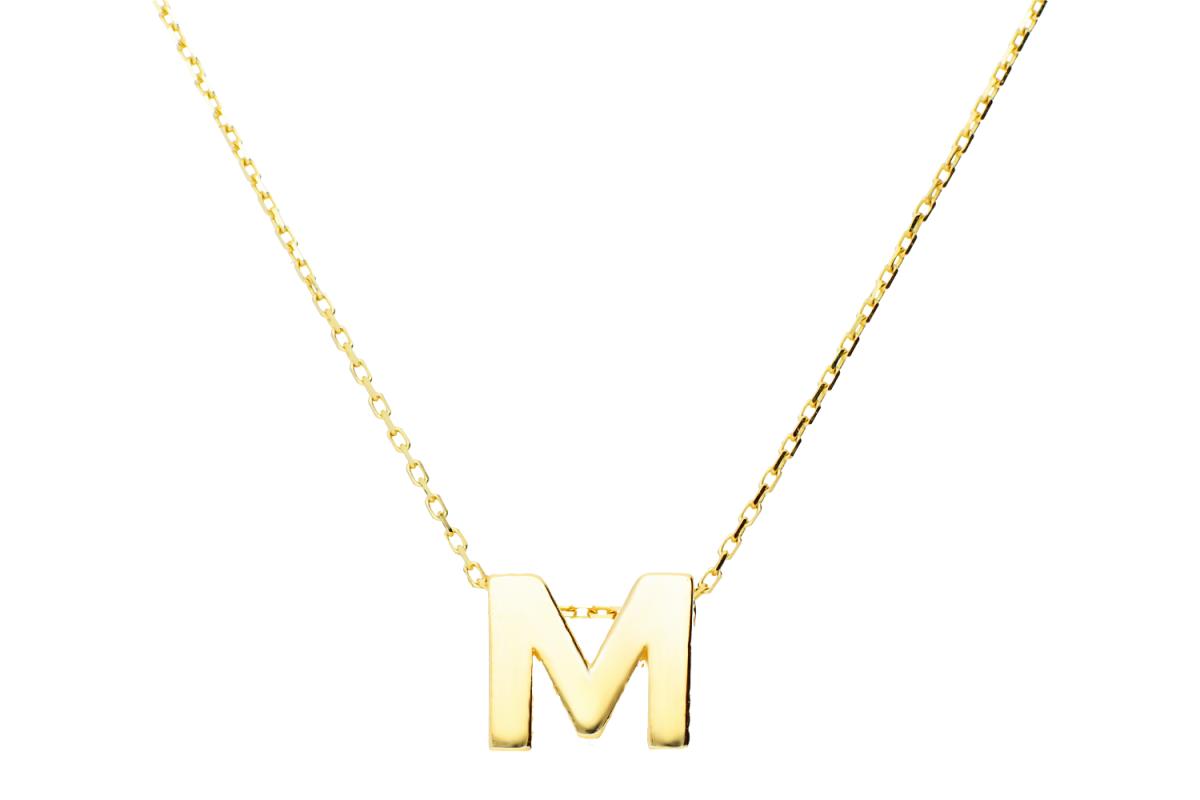 Lant cu pandant litera M
